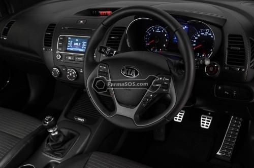 2014 Kia Cerato Koup Turbo interior 500x332 بررسی کیا سراتو کوپه sx توربو