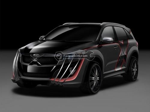 Kia X Car 1 500x375 طراحی به سبک مردان ایکس از کیا سورنتو