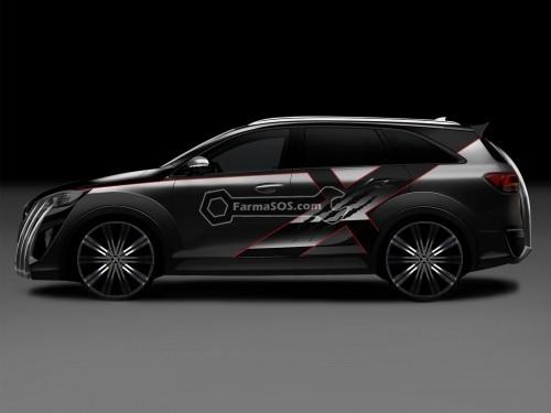 Kia X Car 4 500x375 طراحی به سبک مردان ایکس از کیا سورنتو